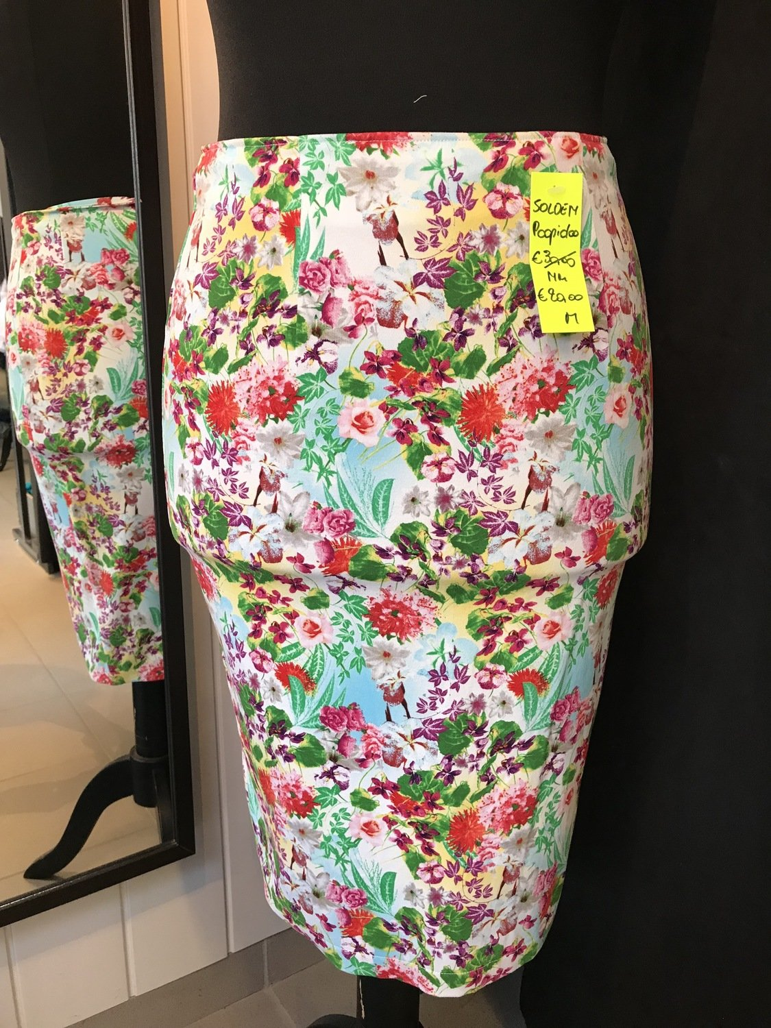 Pencil rok bloemen