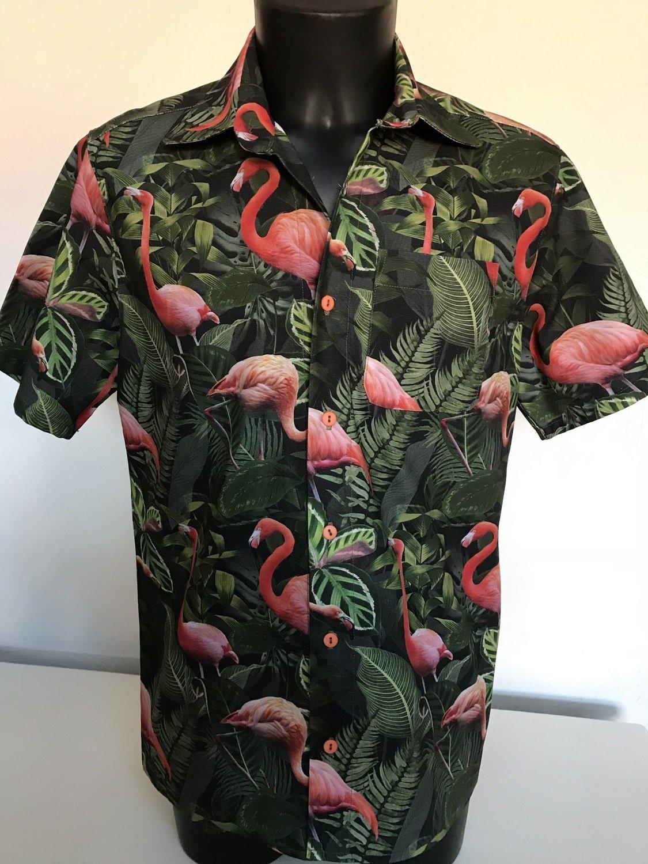 Hemd Jungle Flamingo