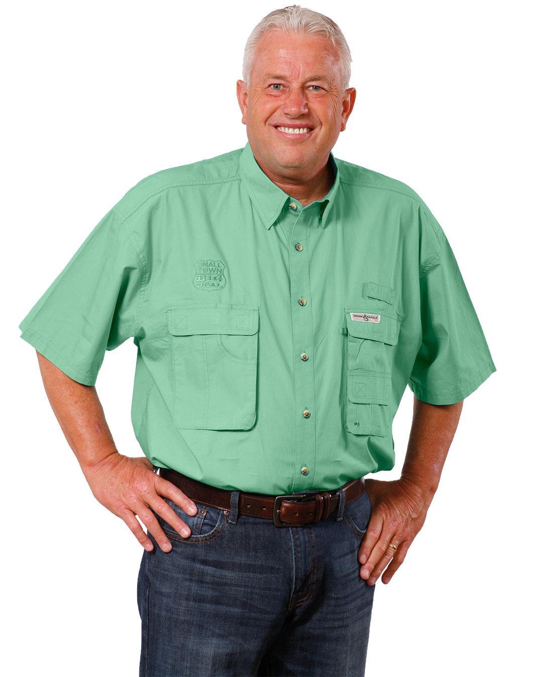 Hook & Tackle Men's Gulf Stream Short-Sleeve Fishing Shirt