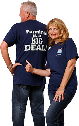FarmTee 100% Cotton USA made Short Sleeve Tee Shirt