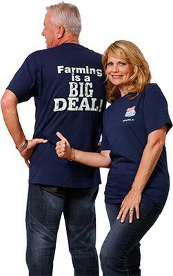 FarmTee 100% Cotton USA made Short Sleeve Tee Shirt