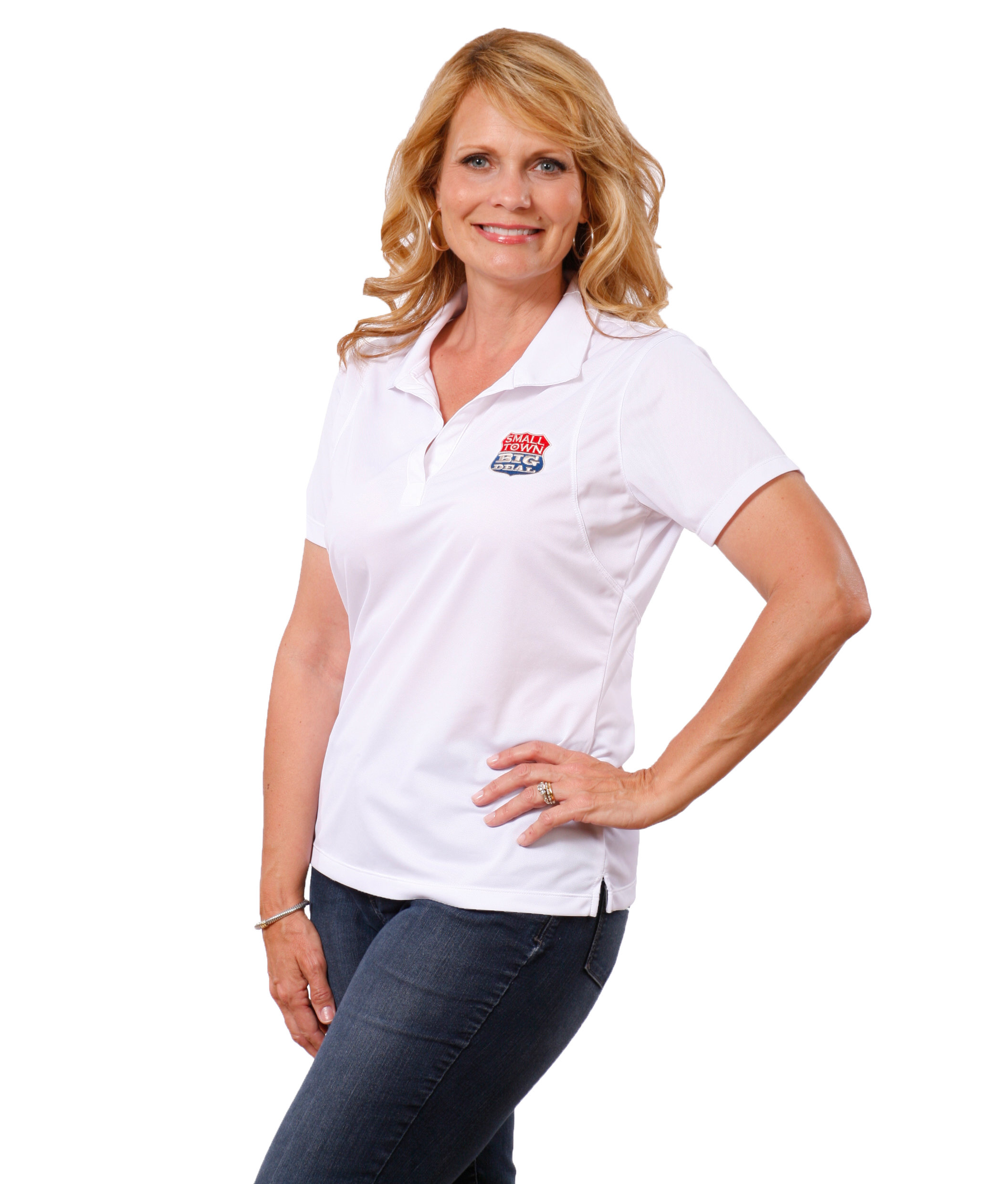 Ladies Moisture Wicking Sports Shirt with full color logo STLWPFC