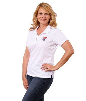 Ladies Moisture Wicking Sports Shirt with full color logo