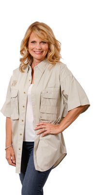 Hook & Tackle Women's Gulf Stream Short-Sleeve Fishing Shirt