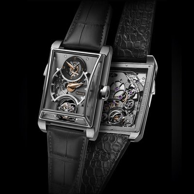 Minute Repeater with 3 Gongs, regulator and Double Axis Tourbillon Titanium Edition 1/1