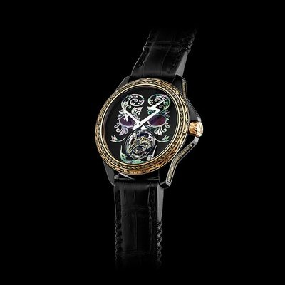 ArtyA Mother of Pearl Tourbillon 1/1 - Arabesque skull