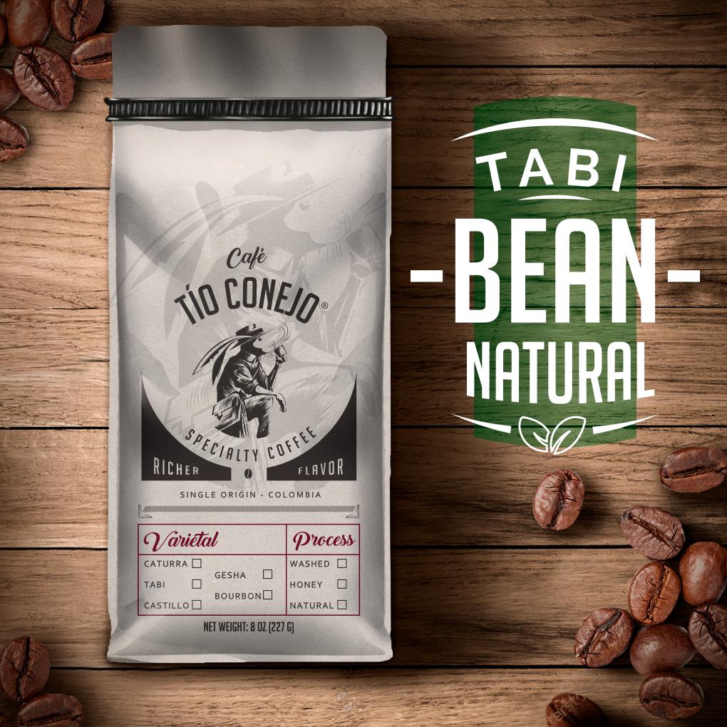 Cafe Tio Conejo. Tabi Natural. 8 OZ