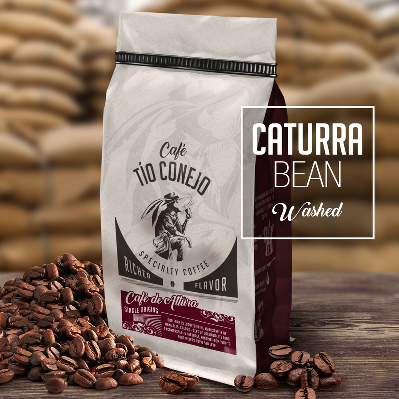 Cafe Tio Conejo. Caturra Washed. 8 OZ
