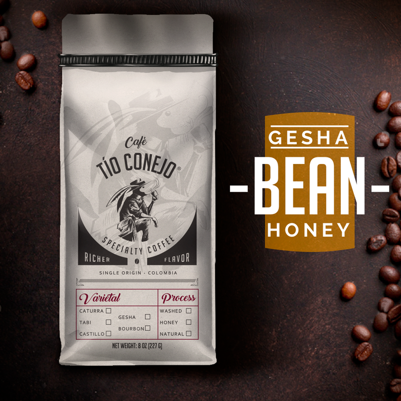 Cafe Tio Conejo. Gesha Honey. 8 OZ