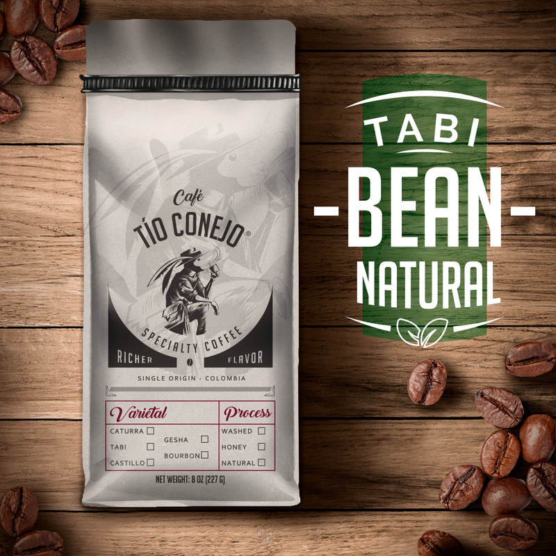 Cafe Tio Conejo. Tabi Natural. 8 OZ