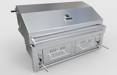 Gas Hybrid Dual Zone Charcoal/Wood Burning Grill 42