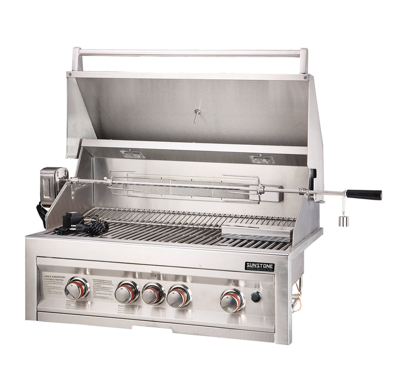 "SUNSTONE 4 Burner Grill 34""w/IR - Item No. SUN4B-IR"
