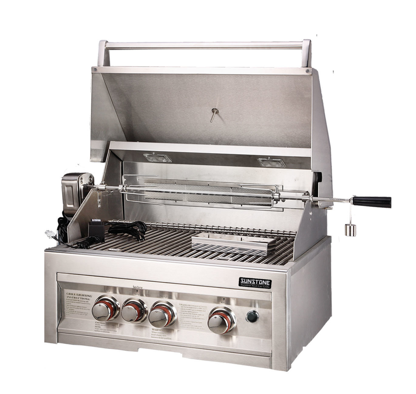"SUNSTONE 3 Burner Grill 28""w/IR - Item No. SUN3B-IR"