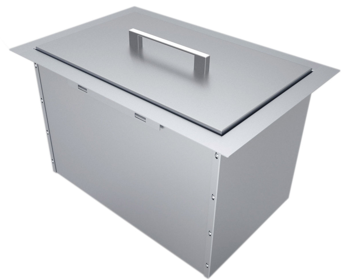 "Over/Under 14"" x 12"" Height Single Basin Insulated Wall Ice Chest w/Cover Item No. B-IC14"