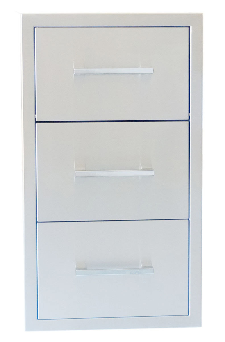 "Signature Series 17""Beveled Frame Paper Towel Drawer Combo - Item No. BA-DPCF17"