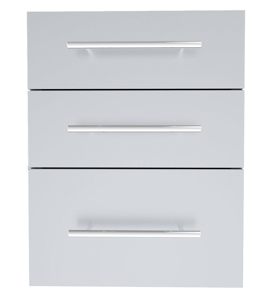 "Designer Series 23""Height Multi-Configurable Triple Drawer w/Self-Leveling Legs - Item No. DE-TD23"