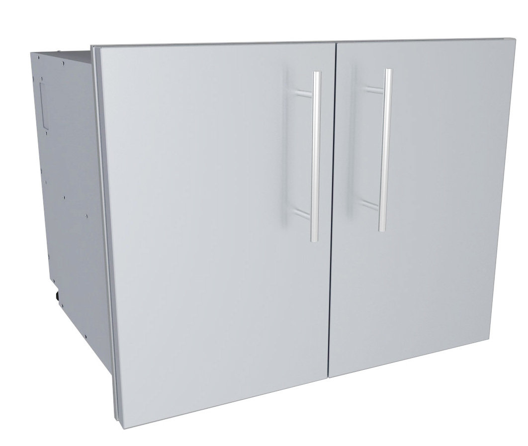 "Designer Series 30""W  Multi-Configurable Double Door Dry Storage Pantry w/Shelf & Utility Access - Item No. DE-DDP30"