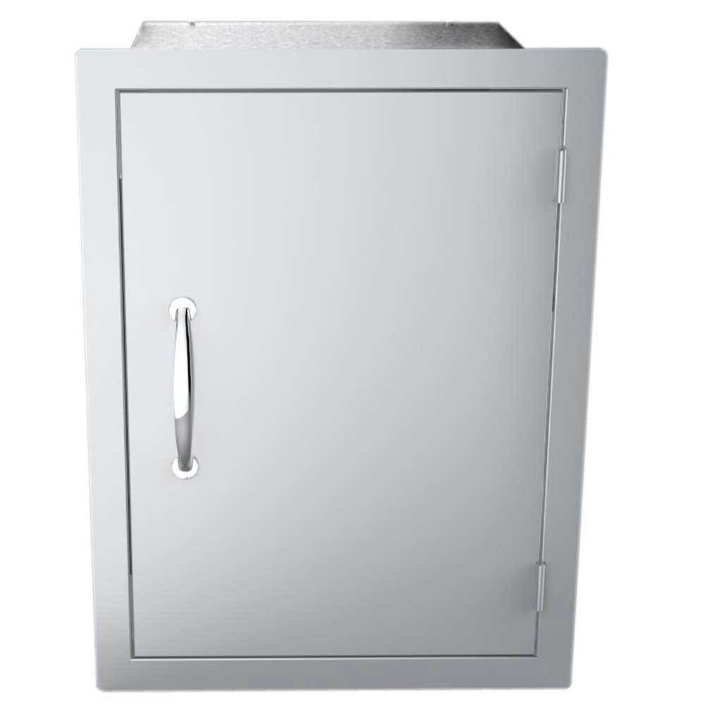 "17"" x 24"" Flush Mount Vertical Dry Storage Pantry Cabinet - Item No. DSV1724"