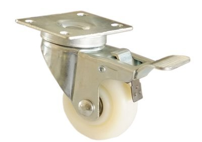 304 Stainless Steel Heavy-Duty Swivel Locking Wheel Caster  - Item No. SLWC