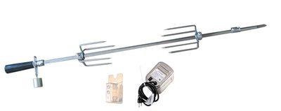 Stainless Steel Rotisserie Kit w/Mounting Racket