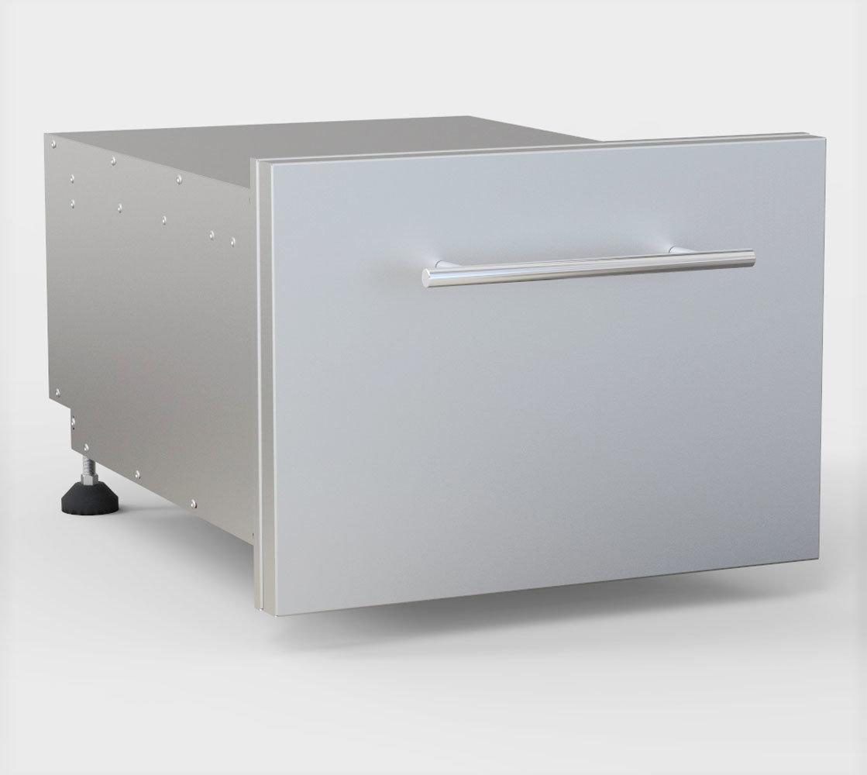 "Designer Series 13""H Multi-Configurable Tilt-out Paper Towel, Cutlery Drawer & Cutting Board Combo - Item No. DE-DPCF13"