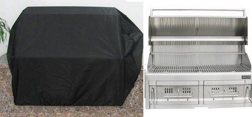 "Waterproof Grill Cover for 42"" Drop in Charcoal Grills- Size 48.8"" W x 31"" H"