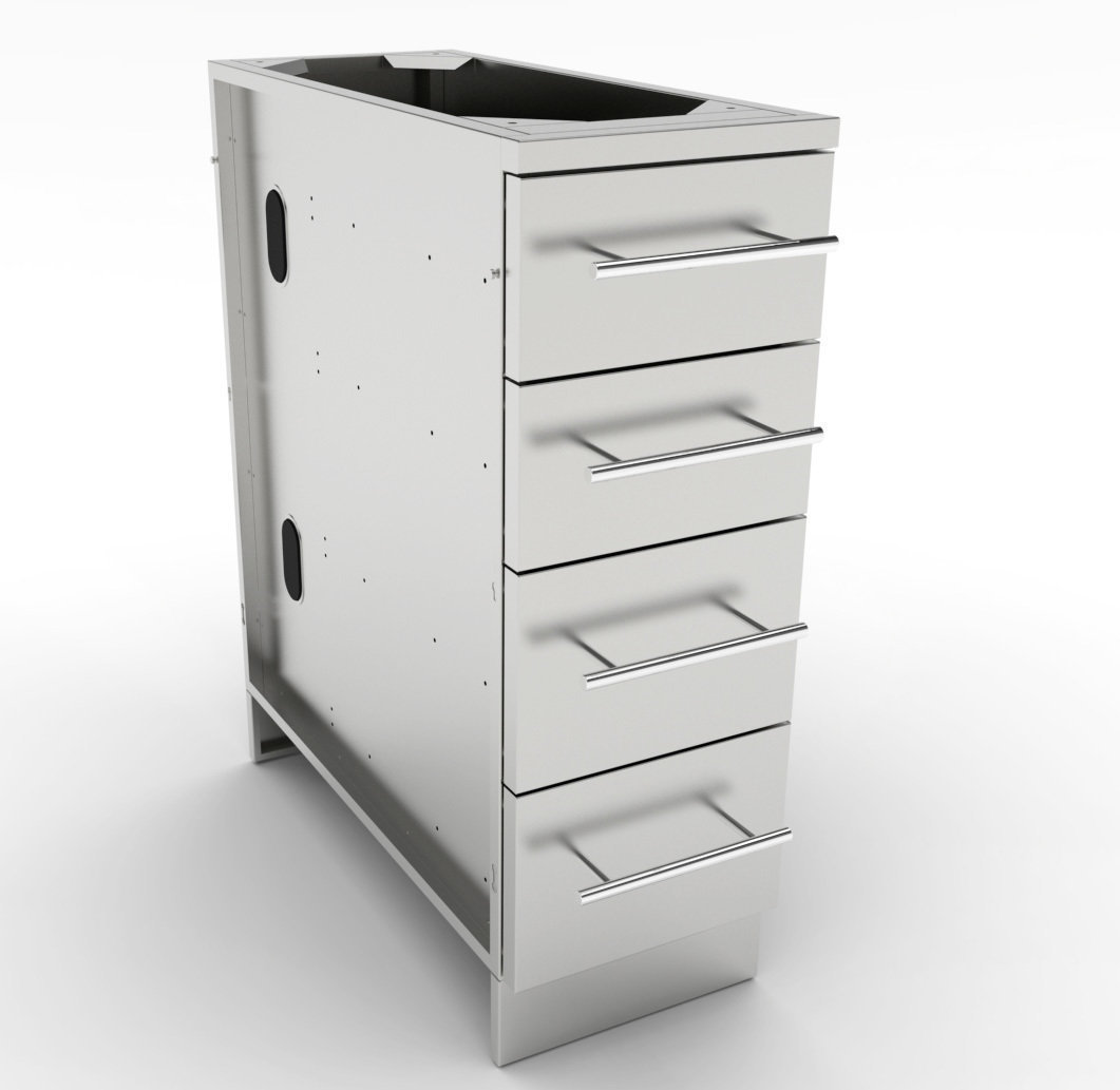"12"" 4 Multi Drawer Base Cabinet  - Item No. SBC12SMD"