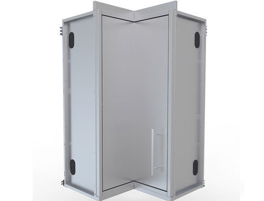 "12"" x 12"" Full Height 360 Swivel Door Corner Cabinet w/Three Shelves  - Item No. SWC12SLS"
