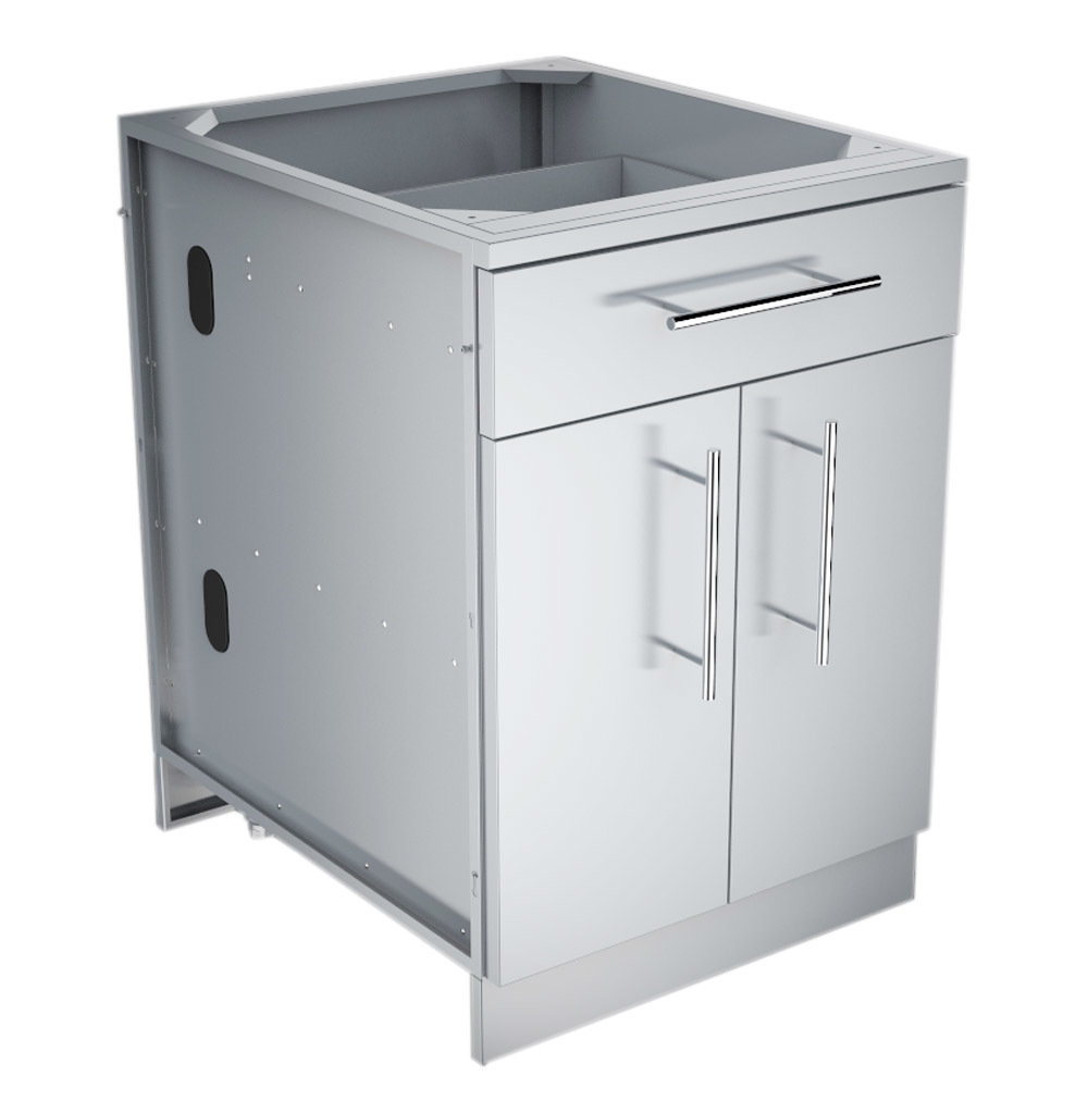 "24"" Double Door Base Cabinet w/Shelf & Reversible Top Drawer or False Panel  - Item No. SBC24CDD"