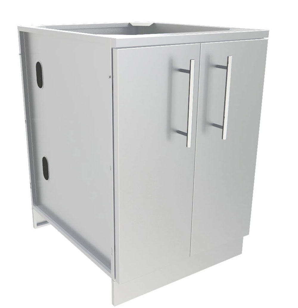 "24"" Full Height Double Door Base Cabinet w/Two Shelves & Door Pockets  - Item No. SBC24FDD"