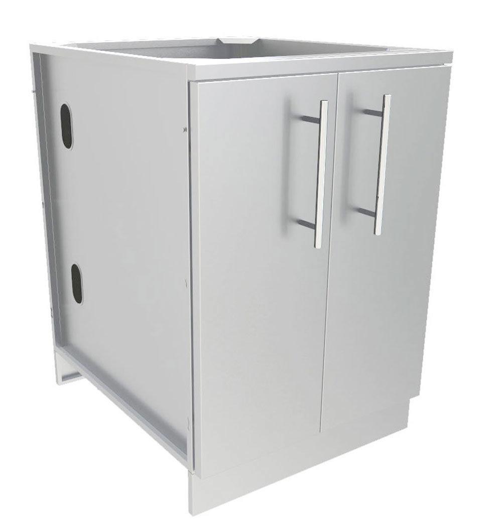 """30"""" Full Height Double Door Base Cabinet w/Two Shelves & Door Pockets  - Item No. SBC30FDD"""