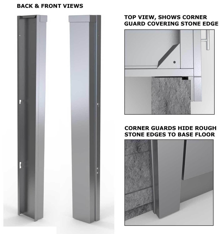 """3"""" End Corner Guard Panel for Right Side of Base Cabinets  - Item No. SCC3ENDSPR"""