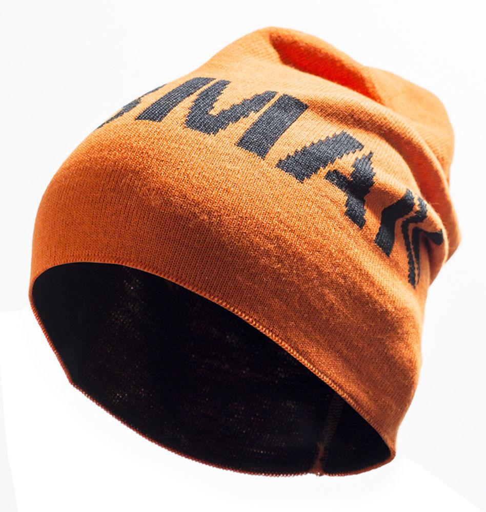 Mütze orange / schwarz