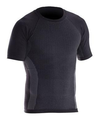 T-Shirt Next to Skin grau / schwarz