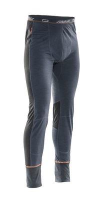 Lange Unterhose Dry-Tech Merinowolle grau / schwarz