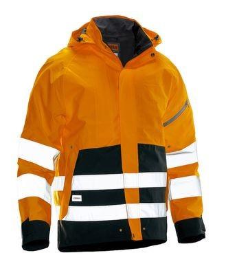 Shell Jacke Hi-Vis orange / schwarz