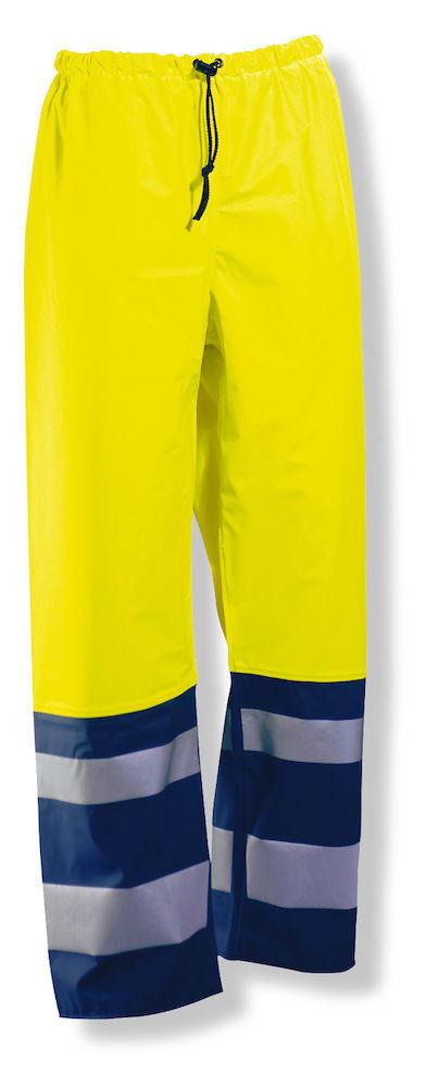Regenhose Hi-Vis gelb / marine