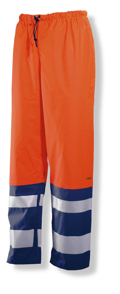 Regenhose Hi-Vis orange / marine
