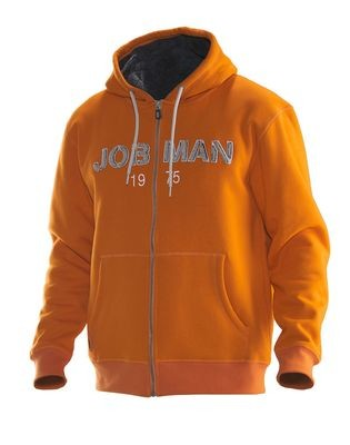 Gefütterter Vintage-Hoodie orange