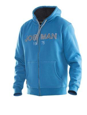 Gefütterter Vintage-Hoodie blau