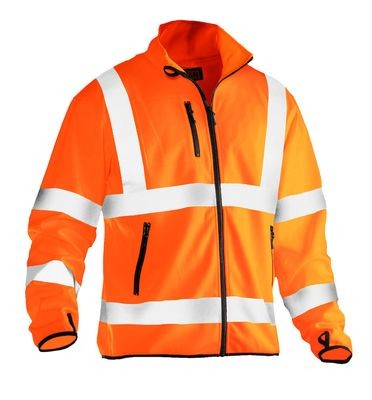 Leichte Softshell Hi-Vis orange
