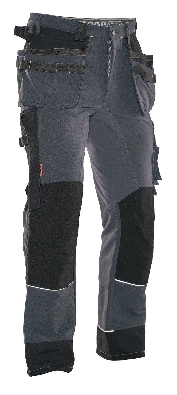 Bundhose 4-Wege Stretch grau/schwarz