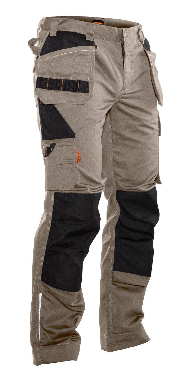 Bundhose mit Holstertaschen khaki / schwarz