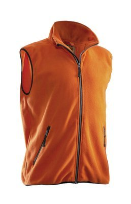 Fleece Weste orange