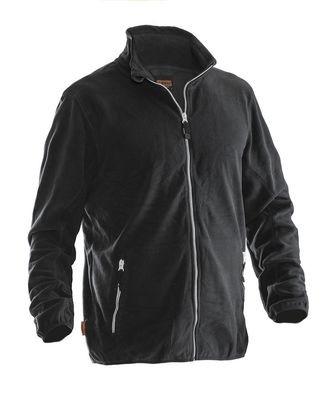 Microfleece Jacke schwarz