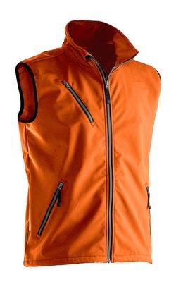 Softshell Weste orange