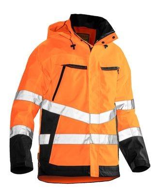 Shell Jacke Hi-Vis  orange/schwarz