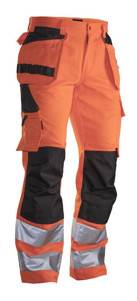 Bundhose Hi-Vis mit Holstertaschen orange / schwarz