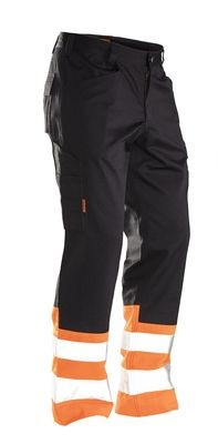 Bundhose Hi-Vis schwarz / orange