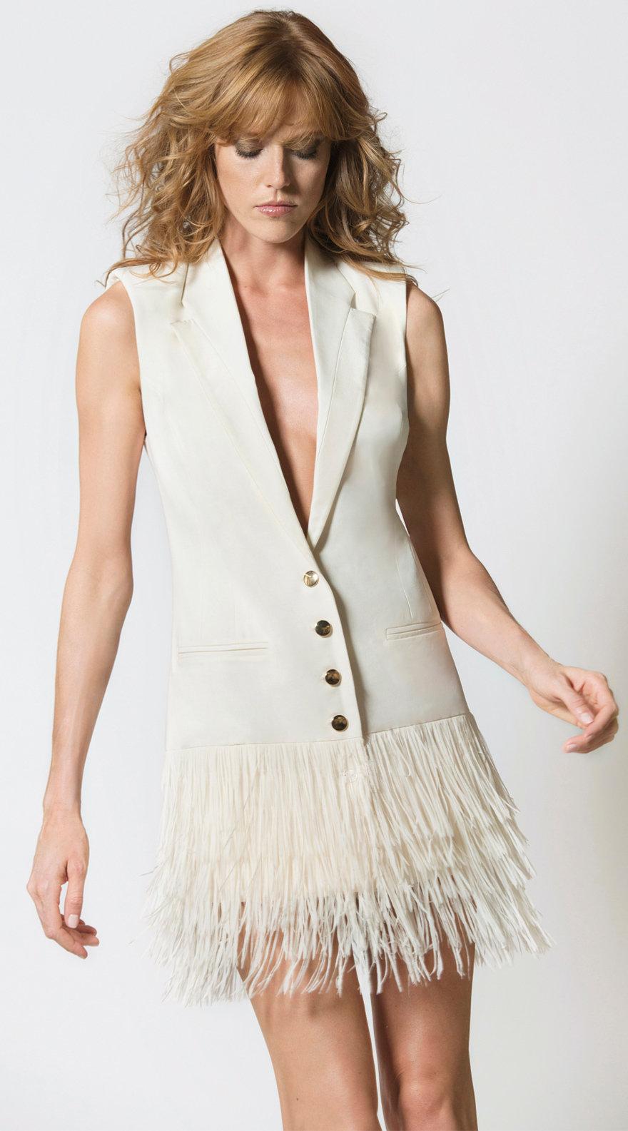 Fringe Blazer Dress